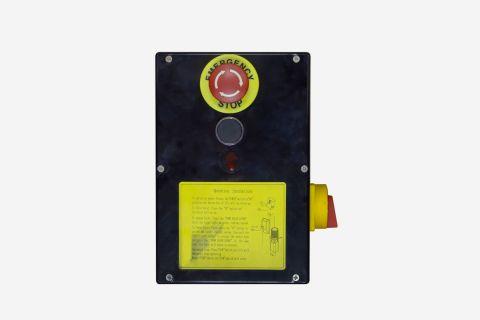Anzeigebild: Bedienpult schwarz 400 Volt für 1-Säulenhebebühnen SP15 und SP31