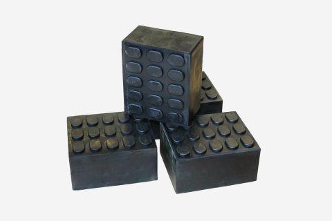 4x Gummiklötze Gummiauflage (100x120x50)