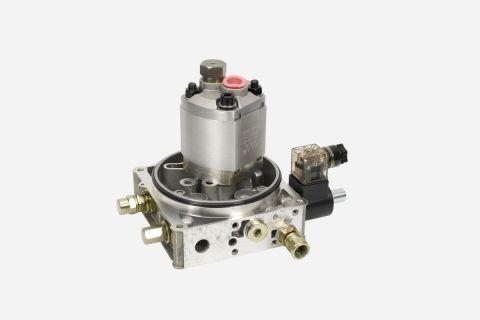 Abbildung: Pumpe mit Verteiler und Ventilen