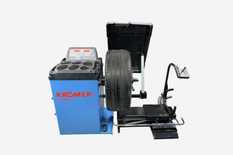Anzeigebild: Reifenwuchtmaschine RB82 Blau Inklusive Hilfsarm, Fußbremse, Reifenabdeckung