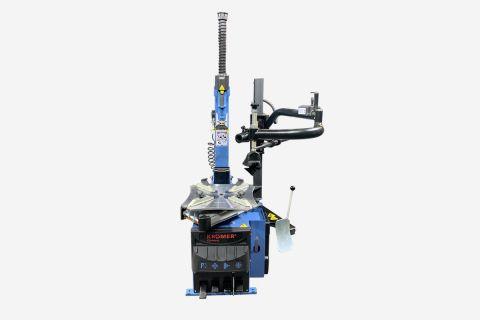 "Abbildung: Reifenmontiermaschine ""Rosenheim"" in Blau"