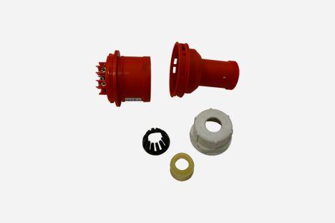 Abbildung: 400 Volt Stecker; Einzelteile