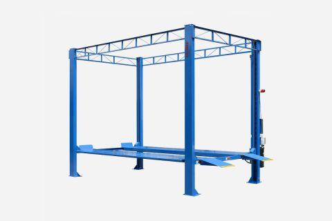 Blau - 4 Säulen Hebebühne