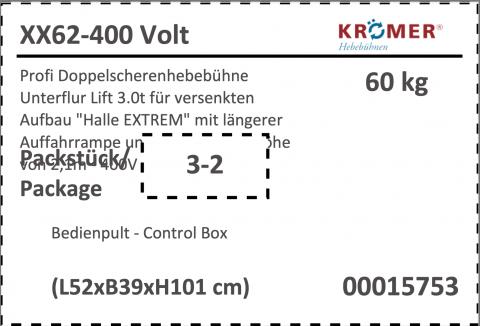 Bedienpult für XX62